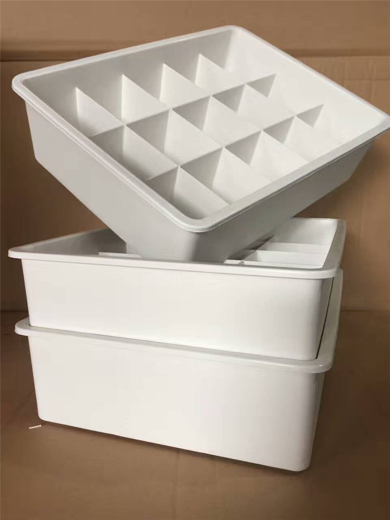 Clear Plastic Storage Box with Dividers