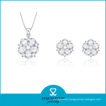 Rhodium Plating 925 Sterling Silver Jewelry Set for Discount (J-0026)