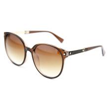Gafas de sol polarizadas de la manera de la señora con las lentes del gradiente de Brown (14307)