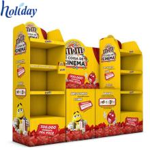 Muebles promocionales del supermercado del almacenamiento de las mercancías de la cartulina del estante de la exhibición