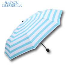 Best Wedding Favour Gift Light Blue Solid The New Taiwan Standard Size China Market Portable Umbrella Printed Folding Promotion