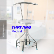 Stainless Steel Adjustable Stool with Backrest (THR-DC03)