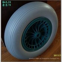 4.80 / 4.00-8 PU-Rad-Plastikrand-Schubkarre PU-Rad, flacher freier Reifen