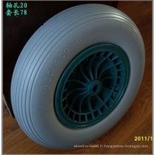 Roue en plastique d'unité centrale de roue de brouette de roue de roue d'unité centrale de 4.80 / 4.00-8, pneu libre plat