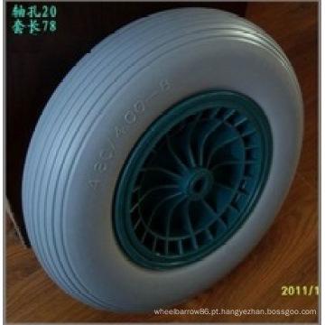 Roda plástica do plutônio do carrinho de mão da borda da roda do plutônio 4.80 / 4.00-8, pneu livre liso