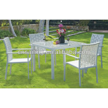 Luxury Durable Easy Cleaning dining table designs four chairs