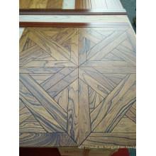 Suelo de madera de ingeniería de olmo de parquet exquisito Hig-End