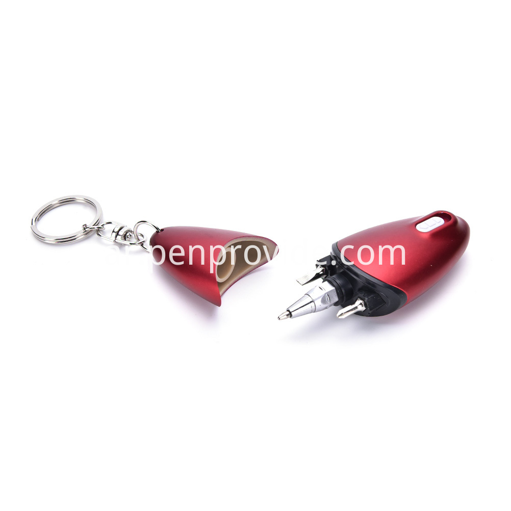 Key Chain Pen Red