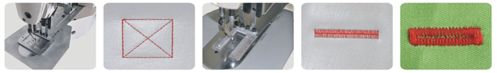 Sample Of Direct Drive Bar Tacking Sewing Machine