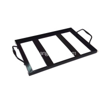 Support métallique en bloc de sel himalayen rectangle