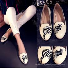 натуральная кожа плоские туфли для женщин