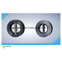 Válvula de retenção de borracha revestida em PTFE de aço não fundido