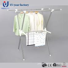 Aço inoxidável extensível X-tipo cabide secagem de roupa