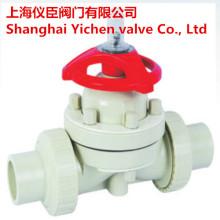 Válvula de diafragma de soldadura de plástico PVC