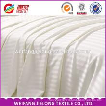 Atacado barato hotel uso tecido de cetim branco Stripe / pano de cama de algodão fornecedor Venda quente tecido de risca de cetim 100% algodão