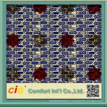 Лондонская восковая ткань Ankara с печатью хлопчатобумажной ткани Sequin
