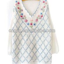 12STC0711 рукой свитер с вышивкой для девочек