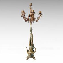 Candelabro Escultura De Bronce Decoración Femenina Decoración De Latón Candelero Tpch-058