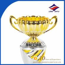 Metal beautiful mix golden sliver trophy flower shape trophy