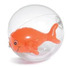 Balle de plage gonflable pour la publicité, boule gonflable dans la bouteille