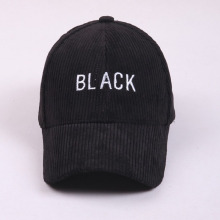 Custom Flat Embroidered Corduroy Baseball Cap