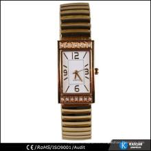 Inserciones del bisel del reloj del oro de la venda de extensión, reloj de la mano de la manera de las mujeres