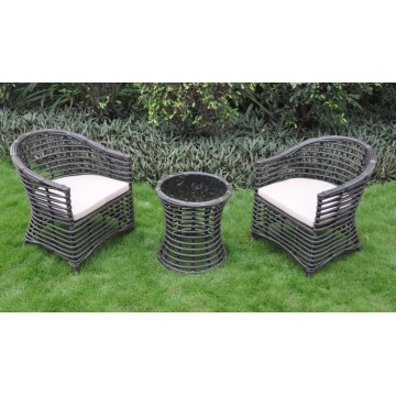 Neue Art Patio Möbel Rattan Woven Esszimmer Sets