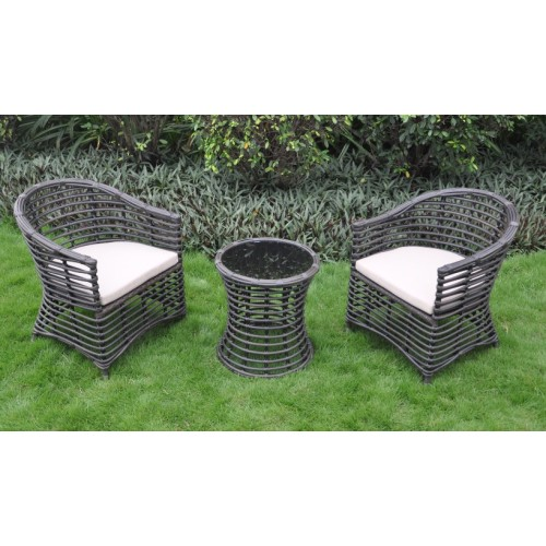 New Style Patio Furniture Rattan vävda matningsset