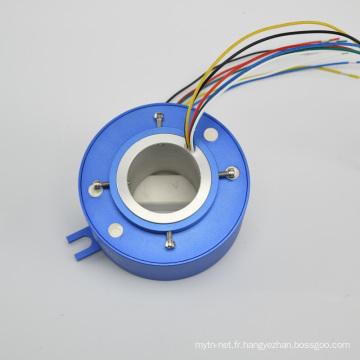 Bague collectrice à alésage traversant avec connecteur Ethernet