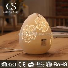Nueva lámpara de mesa blanca de la flor de la forma del huevo de los artículos para la habitación de hotel