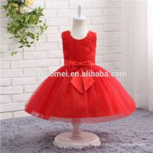 Cor vermelha Caçoa a Beleza Pageant Vestidos Para Meninas Pageant Vestidos Flor Menina Vestido Puffy