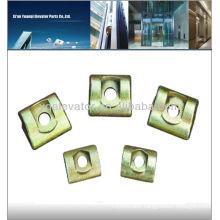 elevator guide rail clip, elevator rail clip, elevator clip