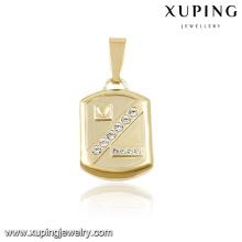 31696 xuping 14k gold plated jewelry wholesale lock shaped pendants