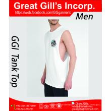 Newest Design Custom Logo Printed Gym Mens Tank Top in Bulk