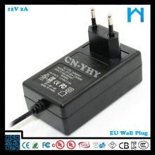 wall power supply 12VDC 2a with CE FCC UL/CSA SAA GS 24w