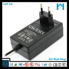 Fonte de alimentação ul plug 12V2a 24w AC DC ADAPTER com CE FCC UL / CSA SAA GS