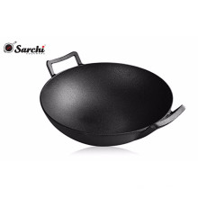 Pre-seasoned Disa machine Cast iron wok