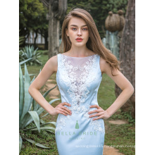 Modern Applique Factory Wholesale Bridal Mermaid Gowns Evening Dress Image Bateau Neckline Evening Dress With Beaded