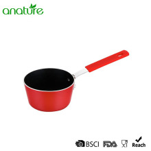 Aluminum Mini Pressed Silcone Handle Nonstick Milk Pot