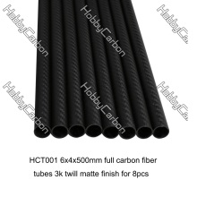 Super strength 3k 100% carbon fiber tube in carbon