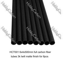 Tubo redondo de fibra de carbono 100% feito sob encomenda OEM