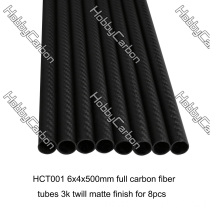 OEM Custom 100% Carbon Fiber Round Tube