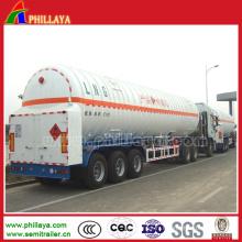 Camion semi-remorque de récipient de 25-59.7m3 LPG GNC LNG Tanker