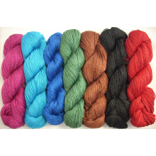 20% de lana 80% de fibra de bambú hilo de viscosa mezcla de lino