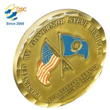 Werbesammlung Geschenke Metallmünzenproduzenten Günstige Military Custom Old Coins