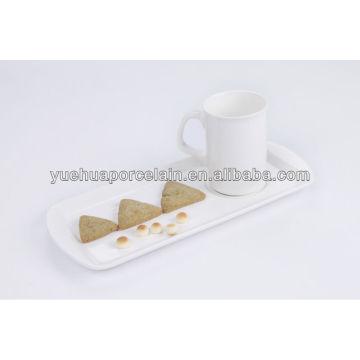 mug and rectangle tray crockery breakfast set