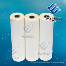 Super Stick BOPP Película de rollo de laminación de brillo térmico con pegamento-35micro