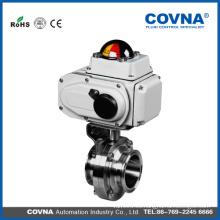 Válvula de bola eléctrica vendedora caliente 12v de la válvula reguladora de la presión del agua eléctrica con el precio bajo