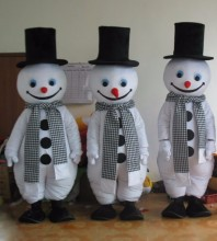 Lovely Snowman Mascot Costume High Quality Hand-made Party and Carnival Supply Adult Size