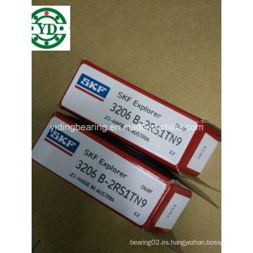 De Buena Calidad Rodamiento de bolitas angular del contacto de la fila doble 3206 Atn9